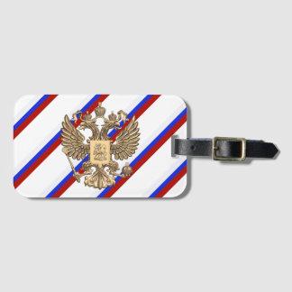 Russian stripes flag luggage tag