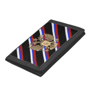 Russian stripes flag trifold wallets