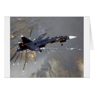 "RUSSIAN SUKHOI SU-27 ""FLANKER"" GREETING CARD"
