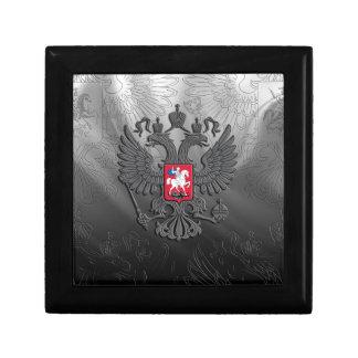Russian symbol flag grey gift box