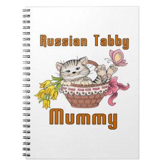 Russian Tabby Cat Mom Notebook