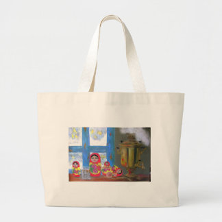 russian tea time large tote bag