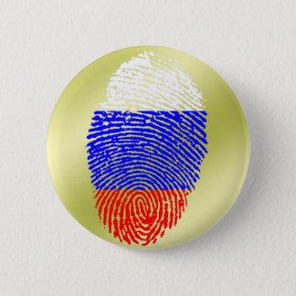 Russian touch fingerprint flag 2 inch round button