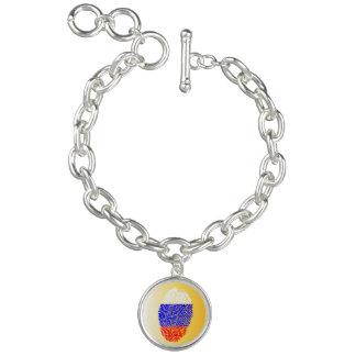 Russian touch fingerprint flag charm bracelet