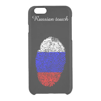 Russian touch fingerprint flag clear iPhone 6/6S case