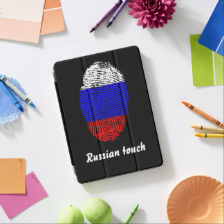 Russian touch fingerprint flag iPad air cover