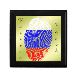 Russian touch fingerprint flag keepsake box