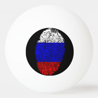 Russian touch fingerprint flag ping pong ball