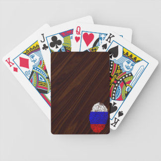 Russian touch fingerprint flag poker deck