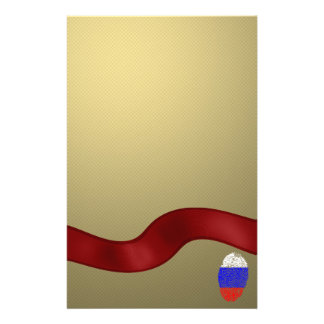 Russian touch fingerprint flag stationery