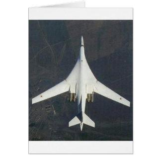 "RUSSIAN TU-160 ""BLACKJACK"" GREETING CARD"