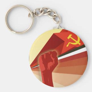 Russian Vintage Communist Propaganda Basic Round Button Keychain