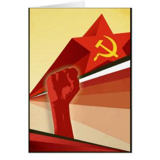 Russian Vintage Communist Propaganda Greeting Card