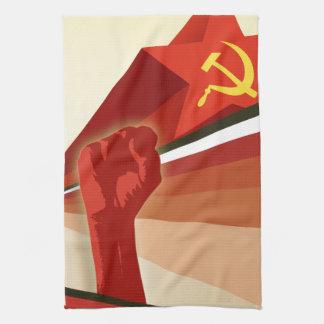 Russian Vintage Communist Propaganda Hand Towel