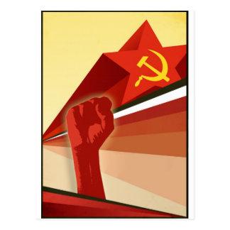 Russian Vintage Communist Propaganda Postcard