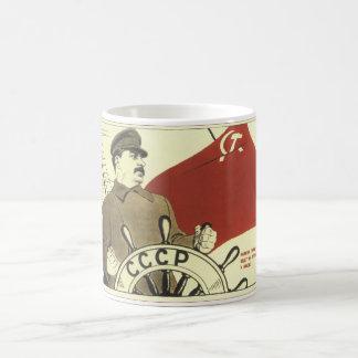 Russian Vintage Communist Propaganda Poster Classic White Coffee Mug
