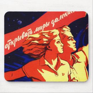 Russian Vintage Communist Space Propaganda Mouse Pad