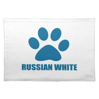 RUSSIAN WHITE CAT DESIGNS PLACEMAT