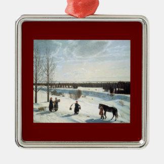 Russian Winter - Nikifor Krylov Metal Ornament