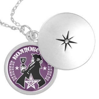 Russian Witch, Chalice & Pentacle Silver Plated Necklace