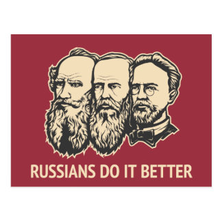 Russians Do It Better Postcard