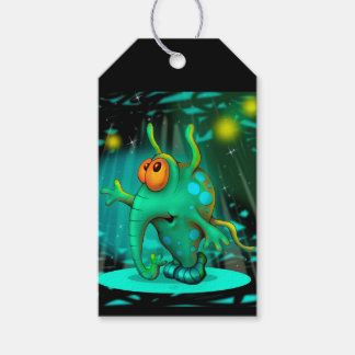 RUSSS ALIEN MONSTER  CUTE CARTOON GIFT TAG MATT 2