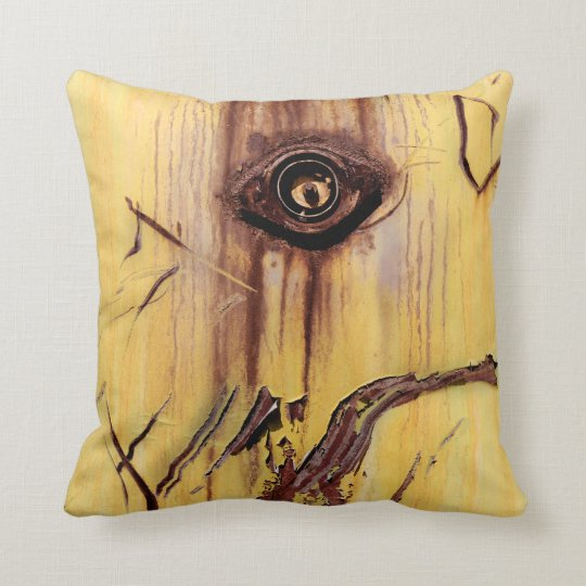 Rust Abstract Art - Cool Fun Unique Throw Pillow