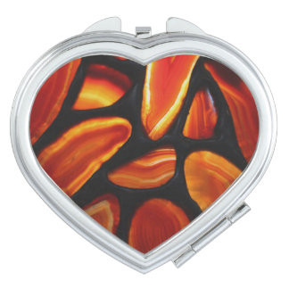 Rust Agate Compact Mirror