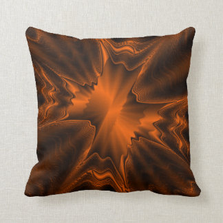 Rust Agate Throw Pillow