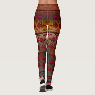Rust and Red Wine, Southwestern Patterned Leggings