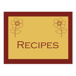 Rust and Tan Recipe Card