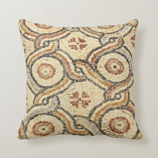 Rust and Tan Tile Pillow