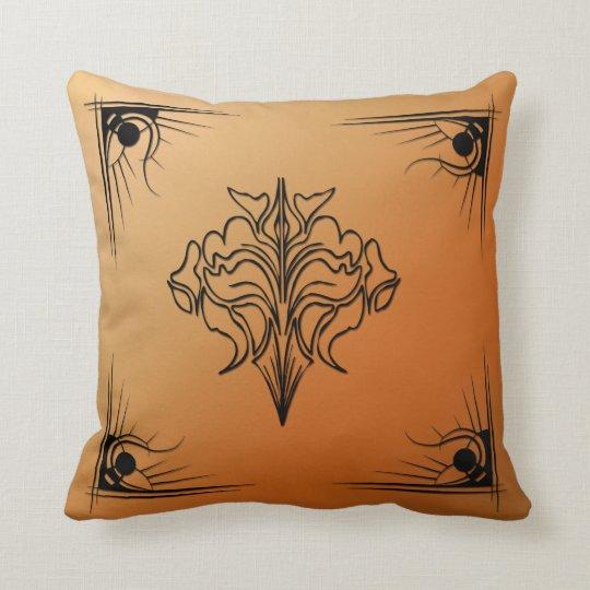 Rust Art Deco Throw Pillow