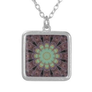 Rust-Art / mandala-style-rust Silver Plated Necklace