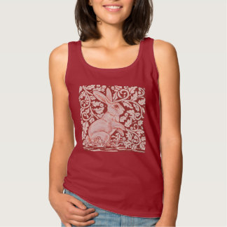 Rust Autumn Rabbit Scrolled Vines Leaves Shirt