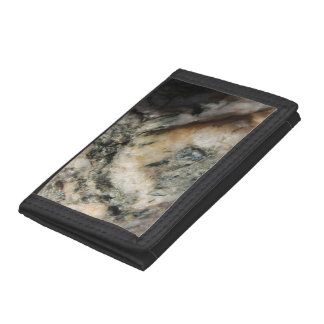 Rust Black White Mineral Texture Trifold Wallet