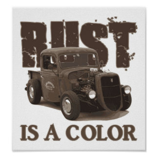 Rust is a color poster
