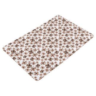 Rust Lucky Shamrock Clover Floor Mat