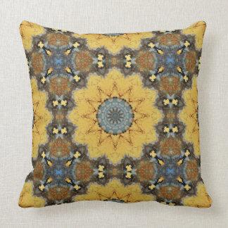 Rust-Mandala_894_9 , ROSTart Throw Pillow