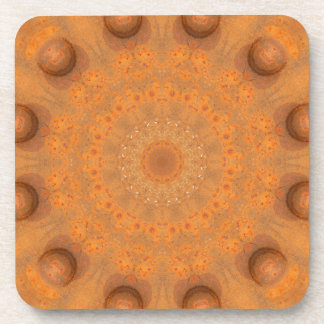 Rust-Mandala, Colors of Rust_843_2 Beverage Coasters