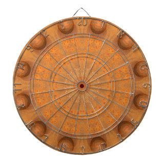 Rust-Mandala, Colors of Rust_843_2 Dartboard With Darts
