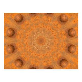 Rust-Mandala, Colors of Rust_843_2 Postcard