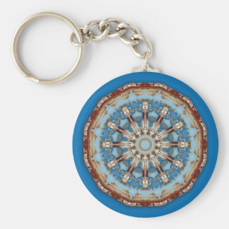 Rust-Mandala, Colors of Rust Basic Round Button Keychain