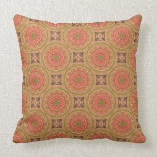 Rust-Mandala, Colors of Rust Throw Pillow