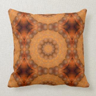 Rust-Mandala, Colours of Rust_744_3 Throw Pillow