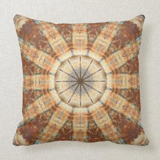 Rust-Mandala, Colours of Rust Throw Pillow