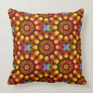 Rust-Mandala, ROSTart 119_3 Throw Pillow