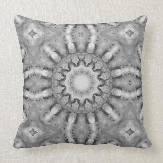 Rust-Mandala, ROSTart  728, black & white Throw Pillow