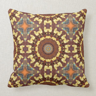 Rust-Mandala, ROSTart 785 Throw Pillow