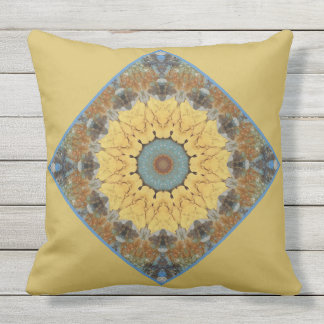 Rust-Mandala, ROSTart 894 Outdoor Pillow